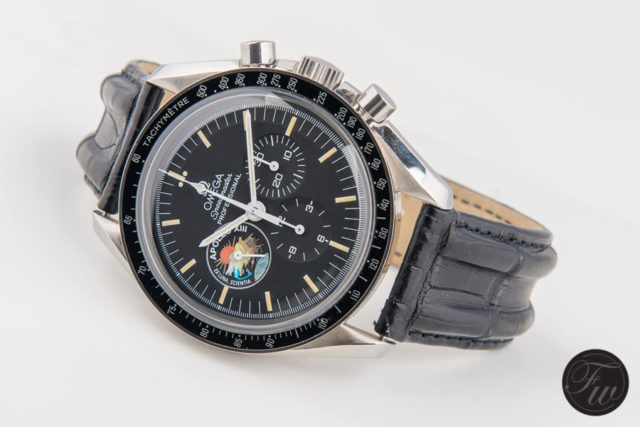 Omega: Speedmaster Pro 'Apollo XIII' Limited Edition am bombierten OEM-Alligatorlederband