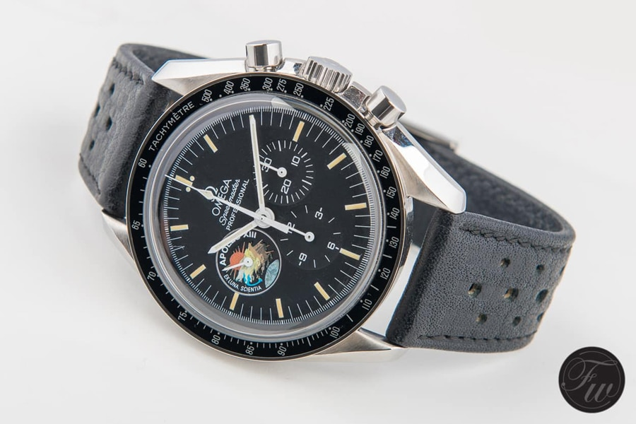Omega: Speedmaster Pro 'Apollo XIII' Limited Edition am Racing-Band