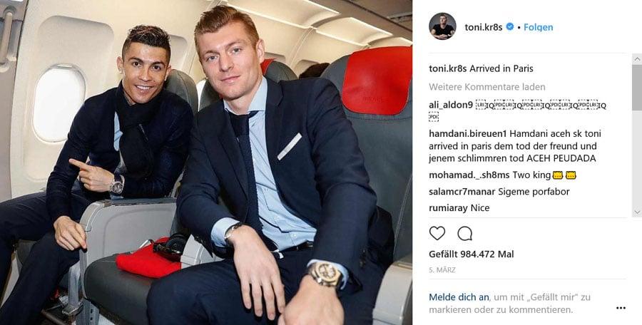 Toni Kroos und Cristiano Ronaldo mit Audemars Piguet und Bulgari