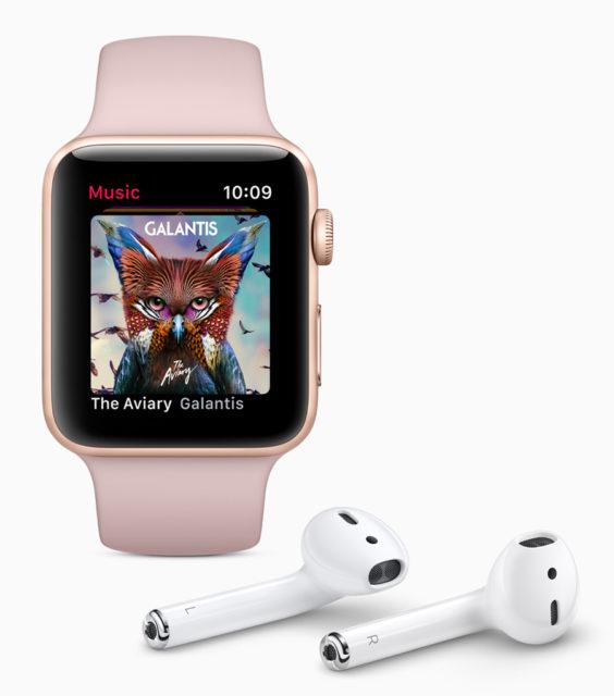 Mit der Apple Watch Series 3 Musik aus dem Internet streamen.