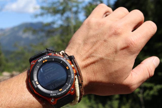 Am Ende jeder Aktivität erhält der Träger eine Überblick über Dauer, Tempo und Strecke