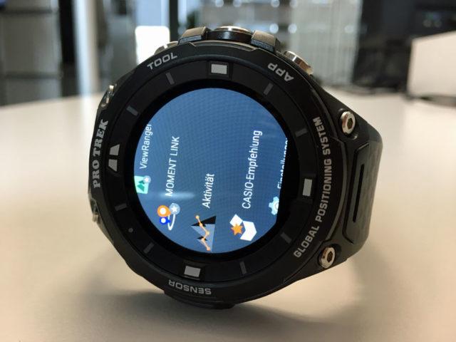 Die Casio Pro Trek Outdoor-Smartwatch WSD-F20 läuft mit dem Betriebssystem Android 2.0
