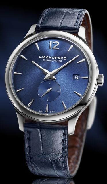 Chopard: L.U.C XPS in Platin mit blauem Zifferblatt