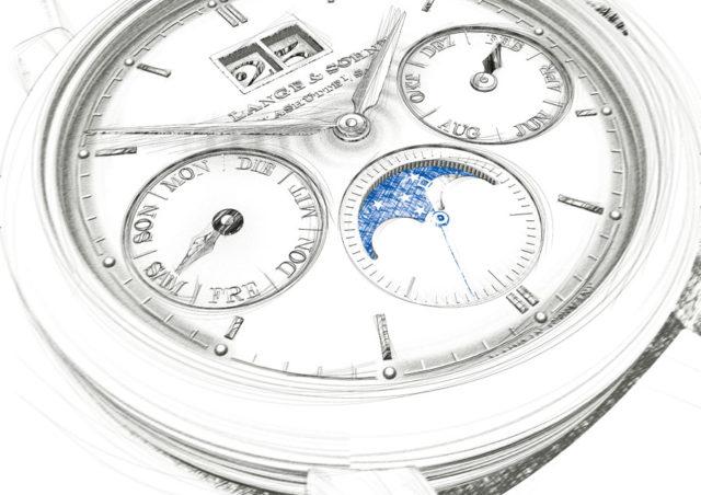 Designskizze von A. Lange & Söhne