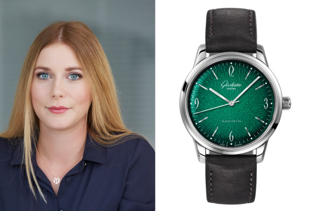 Nadja Ehrlich, Volontärin Transaction Editor Watchtime.net, wählt die Glashütte Original Sixties (6.300 Euro)