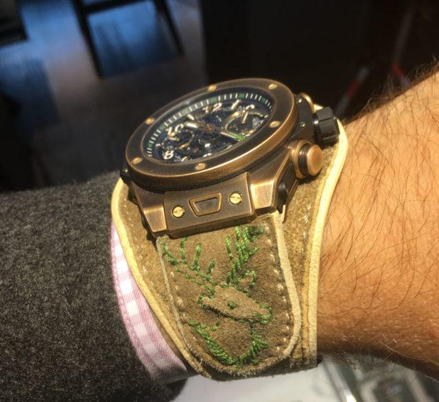 Das handgegerbte Hirschlederband der Hublot Big Bang Unico Bavaria stammt von Meindl Fashion