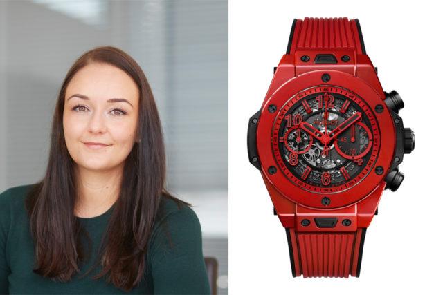 Melanie Feist, verantwortliche Redakteurin Watchtime.net, wählt die Hublot Big Bang Unico Red Magic (25.900 Euro)
