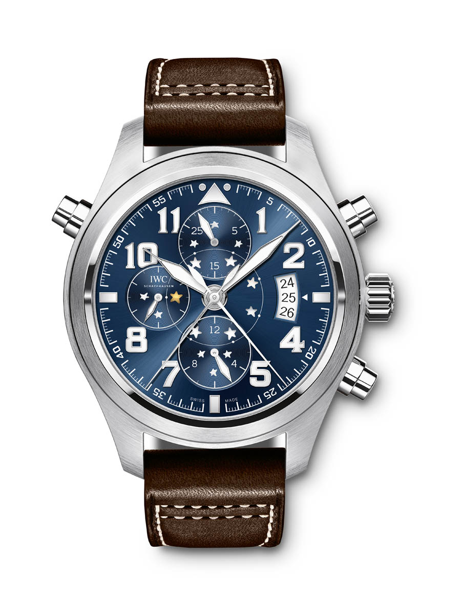 iwc doppelchronograph edelstahl 44 millimeter. Black Bedroom Furniture Sets. Home Design Ideas