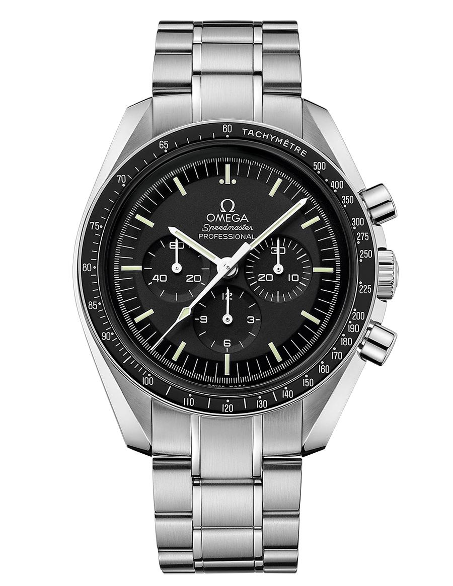 Platz 7 der beliebtesten Uhrenmodelle 2017: Omega Speedmaster Professional Moonwatch