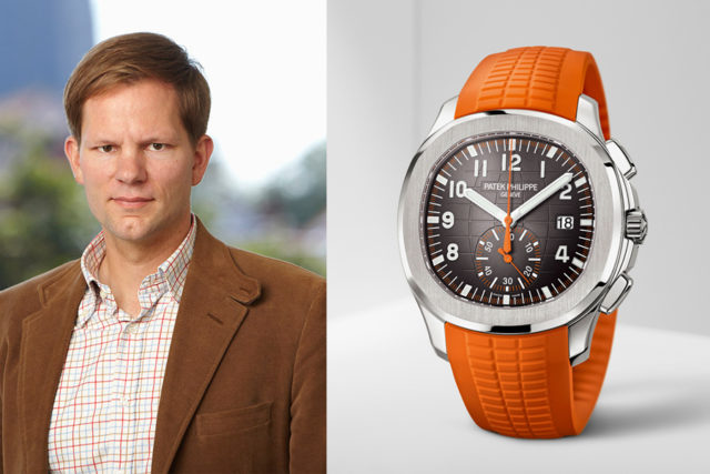 Jens Koch, Redakteur bei Chronos, ist vom Patek Philippe Aquanaut Chronograph begeistert (39.381 Euro)