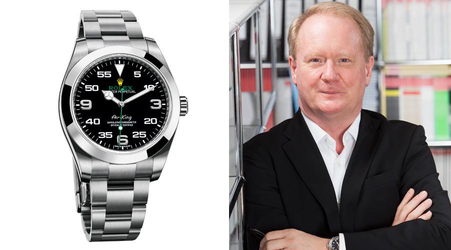 Chefredakteur Thomas Wanka empfiehlt die Rolex Oyster Perpetual Air-King (5.650 Euro).