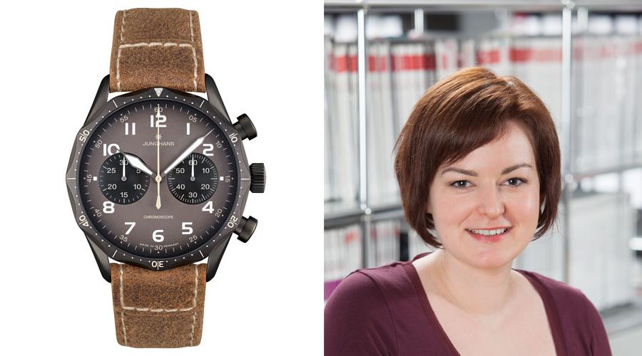 Der Junghans Meister Pilot (2.440 Euro) gefällt Redakteurin Melissa Gößling am besten.