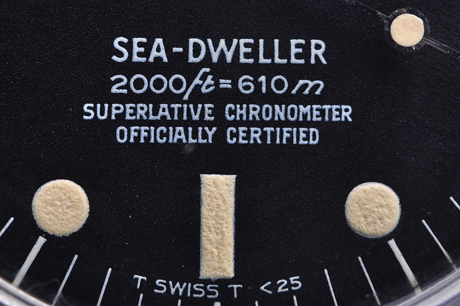 Das Rolex-Zifferblatt und seine Bedeutung: Rail Dial bei der Rolex Sea-Dweller 1665