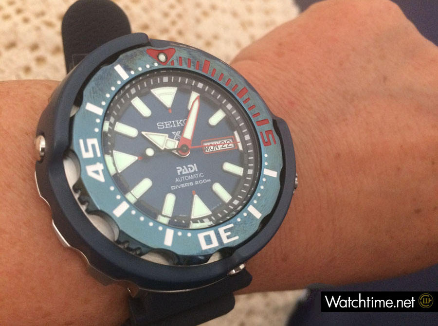 Hands-on: Seiko Prospex Diver's Automatik PADI Special Edition Wristshot