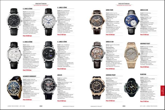 Übersichtlich und klar nach Preiskategorien gegliedert liefert der UHREN-MAGAZIN Preisführer den perfekten Überblick über den aktuellen Uhrenmarkt.