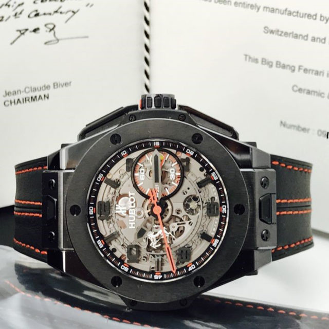 Hublot: Big Bang All Black Ferrari – Limitierte Auflage