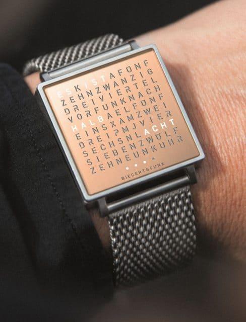 Qlocktwo: Wrist W Copper