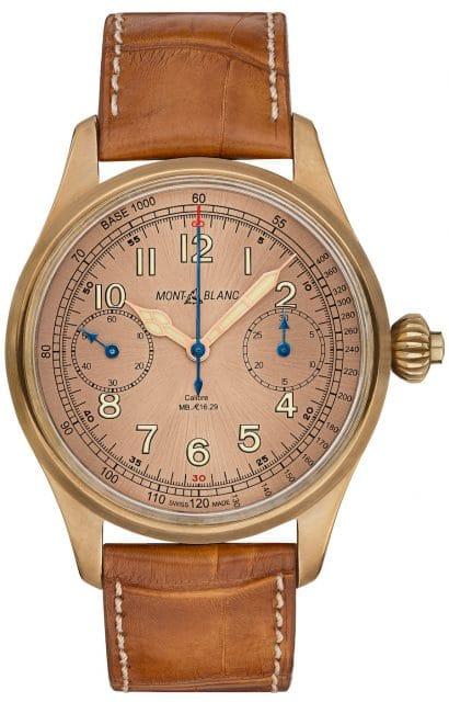 Der Handaufzugchronograph mit Manufakturwerk im Bronzegehäuse ist auf 100 Exemplare limitiert.