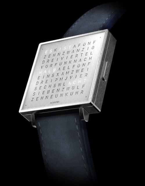 Qlocktwo: W39 Fine Steel
