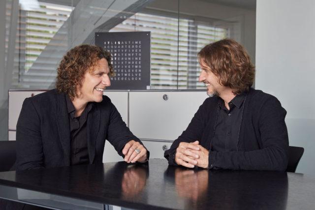 Die Macher von Qlocktwo: Marco Biegert und Andreas Funk