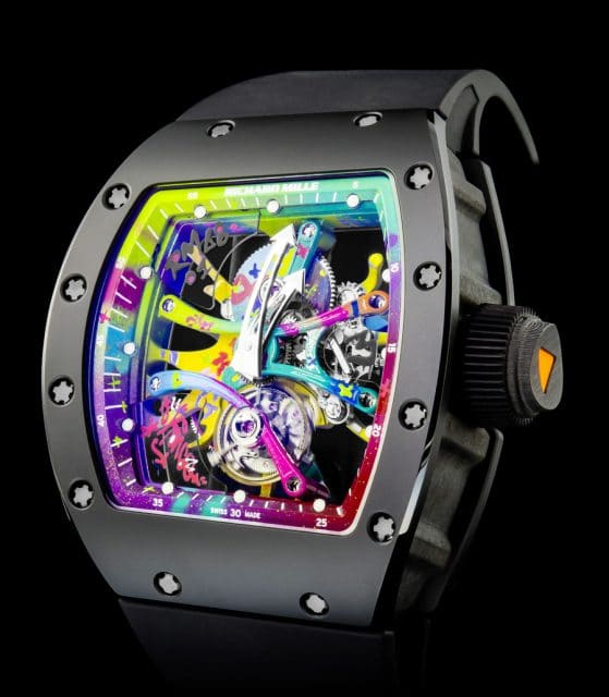 Kooperation mit dem Graffiti-Künstler Cyril Kongo: Richard Mille 68-01 Tourbillon Kongo
