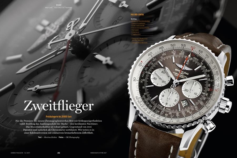 Mit einem Schleppzeigerchronographen krönt Breitling seine Navitimer-Kollektion.