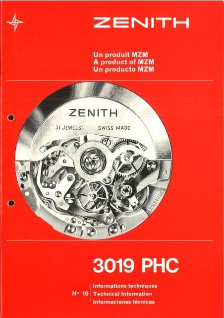 Das erste El-Primero-Kaliber 3019 PHC von Zenith in einer Anzeige von 1969