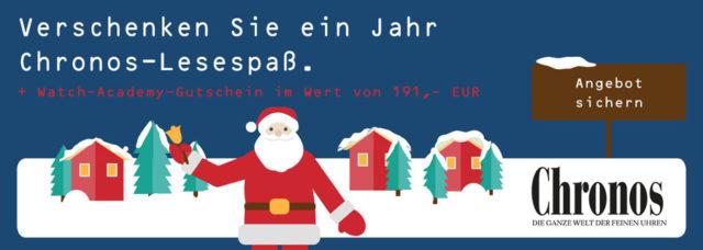 Weihnachtsaktion 2017: Geschenkabo Chronos