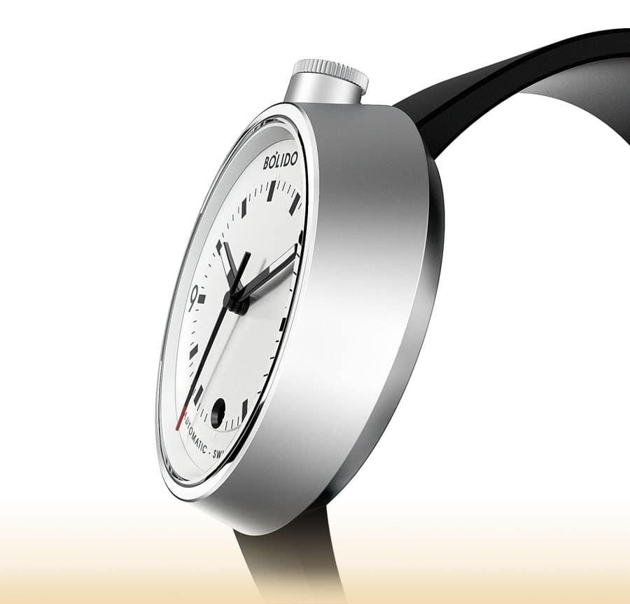Neue Marke Bólido: Modell White mit Schweizer Automatikwerk (650 Euro)