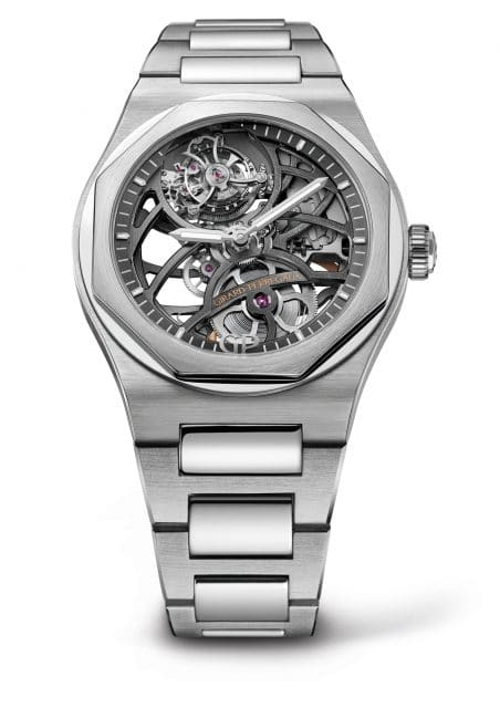 Girard-Perregaux: Laureato Tourbillon Skeleton in Weißgold