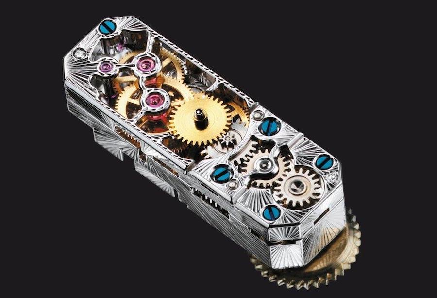 Das Jaeger-LeCoultre Uhrwerk 101 wiegt lediglich ein Gramm.