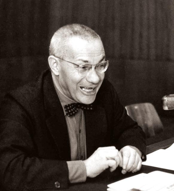 Der Architekt, Designer und ehemalige Bauhaus-Schüler Max Bill im Jahr 1967