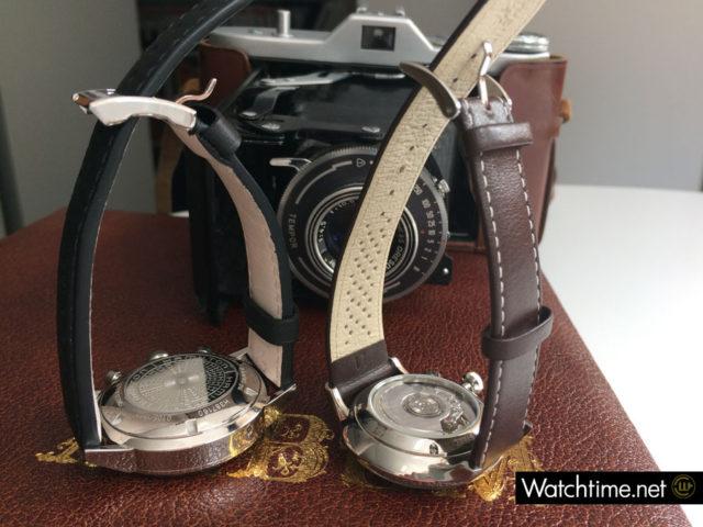 Uhrwerke der Hamilton Intra-Matic 68 und der Junghans Meister Driver Chronoscope