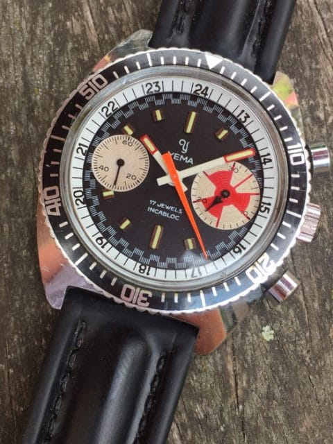 "Yema: Sous Marine ""Big Eye"" Chrono"