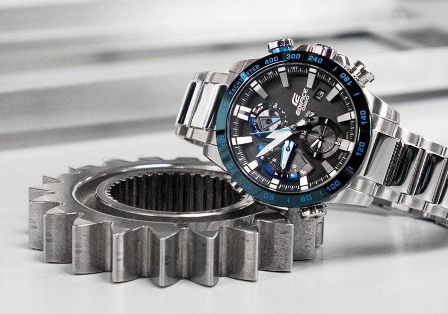 Casio Edifice: Race Lap Chronograph EQB-800DB