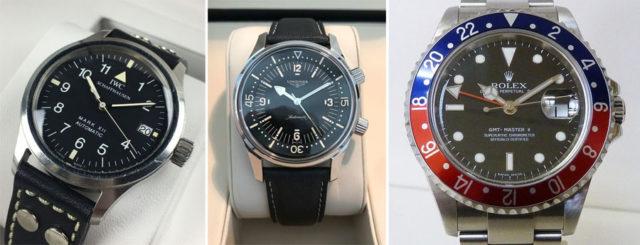 Catawiki-Auktionen: IWC Longines Rolex
