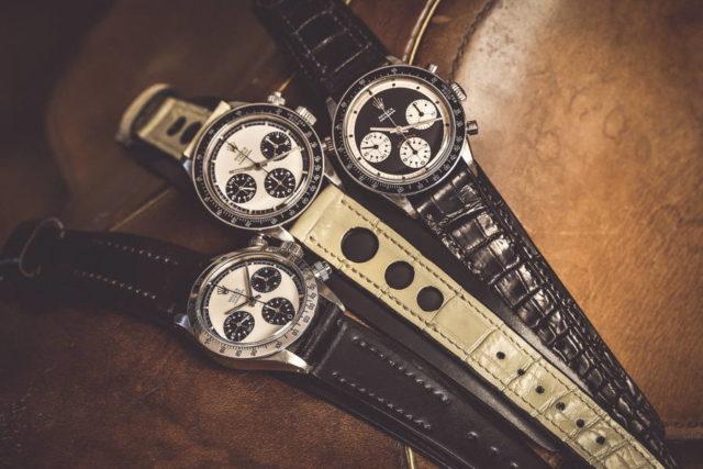 Historische Rolex Daytona-Modelle mit Paul-Newman-Zifferblatt