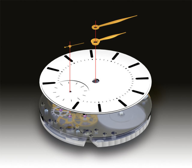 Ein mechanisches Uhrwerk besteht aus mehreren Baugruppen