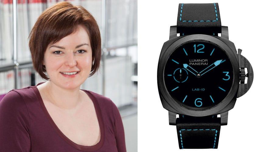 Panerai Lab-Id Luminor 1950 Carbotech ist die Uhr des Jahres für Melissa Gößling, Redakteurin UHREN-MAGAZIN