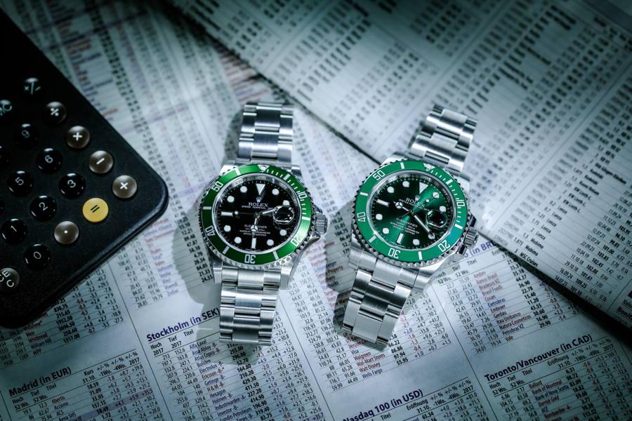 Rolex Submariner Date mit grüner Lünette und ganz grüne Submariner Date