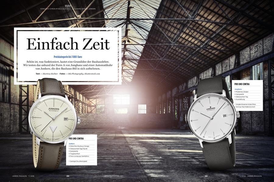 UHREN-MAGAZIN: Bauhaus-Uhren im Vergleich