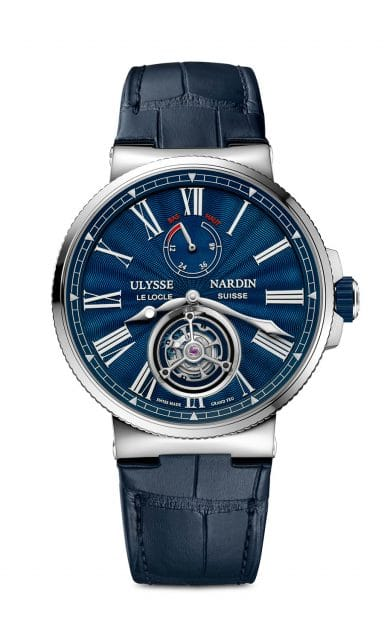 Ulysse Nardin: Marine Tourbillon Blue Grand Feu