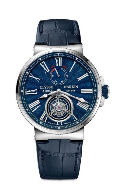 Ulysse Nardin: Marine Tourbillon Blue Grand Feu