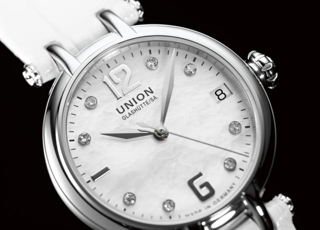 Perlmutt-Zifferblatt: Union Glashütte
