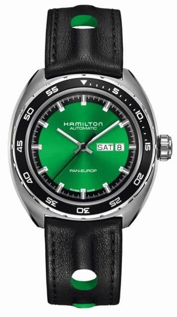 Hamilton: Pan Europ Green Edition mit Lederarmband, 995 Euro