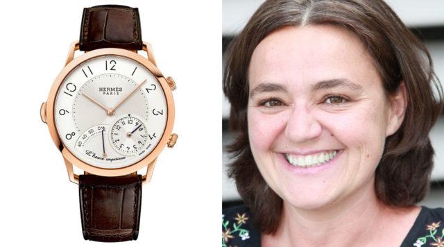 Hermès Slim d'Hermès L'Heure impatiente ist die Uhr des Jahres für Sabine Zwettler, Autorin beim UHREN-MAGAZIN