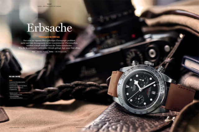 Im UHREN-MAGAZIN-Test: Tudor Heritage Black Bay Chrono