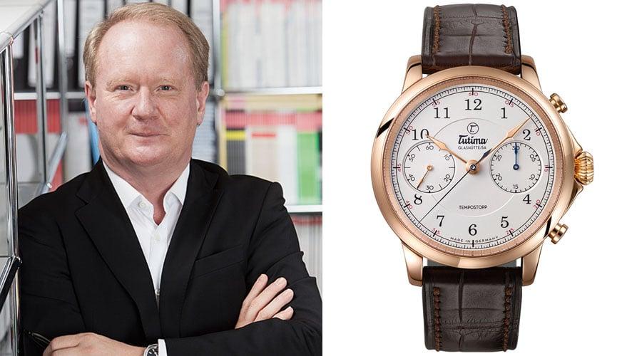 Tutima Tempostopp ist die Uhr des Jahres für UHREN-MAGAZIN-Chefredakteur Thomas Wanka