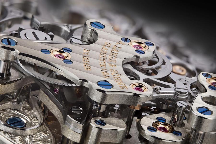 Das Manufakturkaliber L132.1 wurde für die Triple Split von Grund auf neu entwickelt.