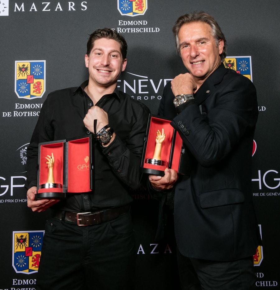 Antoine Preziuso und sein Sohn Florian gewannen 2015 zwei Auszeichnungen für ihr Tourbillon of Tourbillons.